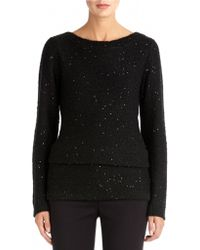 Anne Klein Sequin Tunic Sweater - Lyst