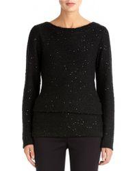 Anne Klein Sequin Tunic Sweater - Lyst