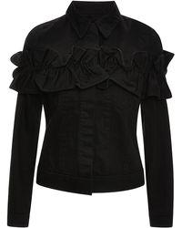 J Brand x Simone Rocha Campbell Ruffled Denim Jacket In Black - Lyst