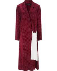 Thakoon Bordeaux Satin Wrap Robe - Lyst