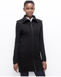 Ann Taylor Zip Sweater Jacket - Lyst