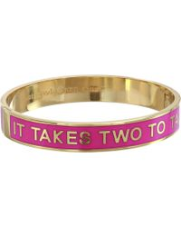 Kate Spade Hinged Idiom Bangles It Takes Two To Tango - Lyst