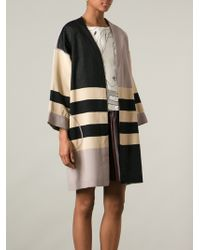 Antonio Marras Multicolor Colourblock Coat - Lyst