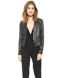 Lovers + Friends Parker Blazer - Gunmetal - Lyst