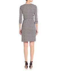 Diane von Furstenberg | Chain Link Wrap Dress | Lyst