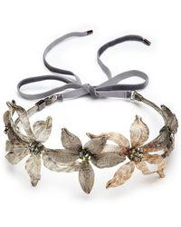 Colette Malouf - Mesh Swarovski Crystal-embellished Floral Crown - Lyst