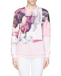 Edition10 - Floral Patchwork Print Sweatshirt - Lyst