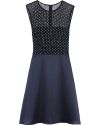 Reiss Mari Embellished Fit and Flare Dress - Lyst