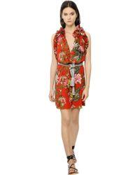 Etoile Isabel Marant Floral Printed Cotton Voile Dress - Lyst