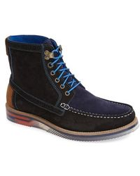 Ted Baker 'Phynn' Suede Moc Toe Boot - Lyst