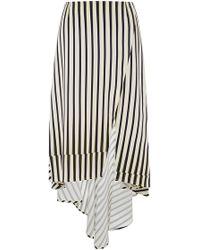 Peter Som Geometric Stripe Asymmetrical Skirt - Lyst