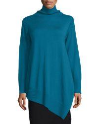 Eileen Fisher   Long-sleeve Merino Asymmetric Turtleneck Tunic   Lyst