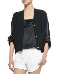Helmut Lang Blaze Knit Snap-Front Jacket - Lyst