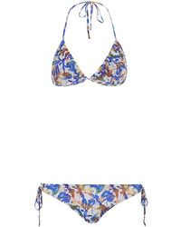 Matthew Williamson Wood Cut Triangle Bikini - Lyst