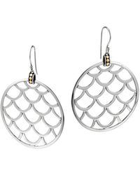 John Hardy Naga Gold  Silver Large Round Earrings - Lyst