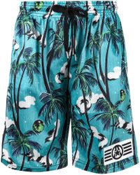 99% Is - Tropical Print Shorts - Lyst
