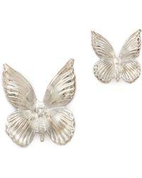 Rodarte Silver Butterfly Earrings  Silver - Lyst