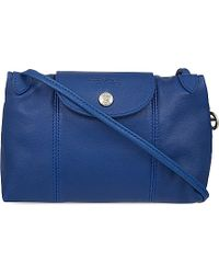 Longchamp Le Pliage Leather Cross Body Bag - For Women - Lyst