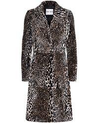 Reiss Minx Leopard Print Coat - Lyst