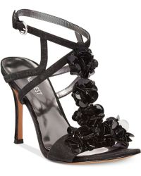 Nine West Fabour Jeweled Evening Sandals black - Lyst