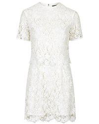 Topshop Premium Daisy Lace Overlay Dress - Lyst