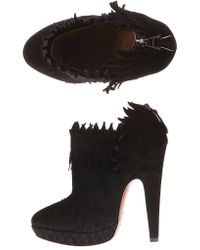 Alaïa | Flame-Shaped Suede Ankle Boots | Lyst