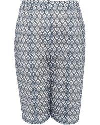 O'2nd - Grey Waffle Print Shorts - Lyst