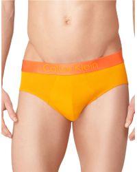 Calvin Klein Dual Tone Logo Hip Briefs - Lyst