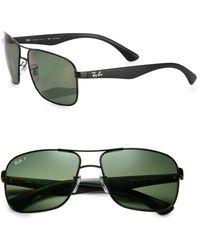 Ray-Ban 59mm Square Aviator Sunglasses - Lyst