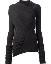 Rick Owens Lilies Gathered Top - Lyst