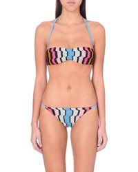 Missoni Knitted Bandeau Bikini Set - For Women - Lyst