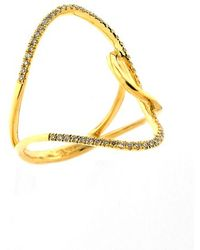 Bony Levy Women'S 'Prism' Diamond Pave Open Swirl Ring - Yellow Gold (Nordstrom Exclusive) - Lyst