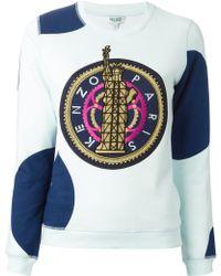 Kenzo Liberty Cotton Sweatshirt - Lyst