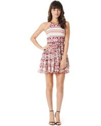 Parker Kerri Combo Dress - Lyst
