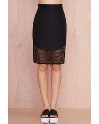Nasty Gal Finders Keepers Fatal Attraction Mesh Skirt - Lyst