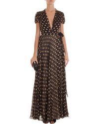 Diane Von Furstenberg Ss Wrap Gown Look 9 - Lyst