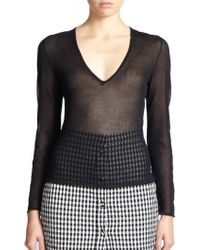 Altuzarra Zilio Sheer V-Neck Sweater - Lyst