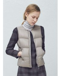 Mango - Quilted Lightweight Feather Gilet - Lyst