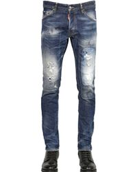 DSquared² 16.5Cm Washed Cool Guy Fit Denim Jeans - Lyst