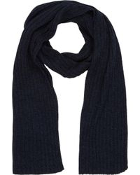 Barneys New York Rib-knit Scarf - Lyst