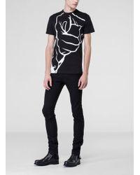 Costume National Black Printed T-shirt - Lyst