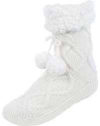 Jane Norman | Cable Knit Slipper Socks | Lyst
