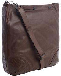 Bottega Veneta Brown Leather Snap Top Large Shoulder Bag - Lyst