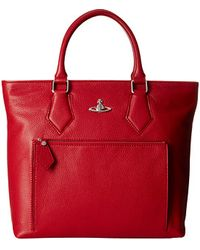 Vivienne Westwood Leather Shopper Bag - Lyst