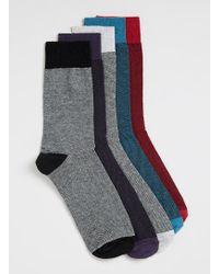 Topman Multi Redtealgrey Texture Socks 5 Pack - Lyst