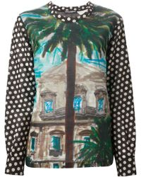 Dolce & Gabbana 'Sicilian Mambo' Print Blouse - Lyst