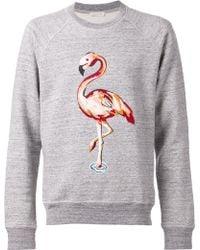 Marc Jacobs X Basel Flamingo Cotton Sweatshirt gray - Lyst