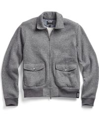 Todd Snyder | Fleece Two Pocket Bomber In Charcoal | Lyst