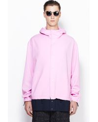 3.1 Phillip Lim Box Cut Snap Up Jacket With Combo Shirt Tail - Lyst