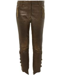 Isabel Marant Henley Leather Trousers - Lyst